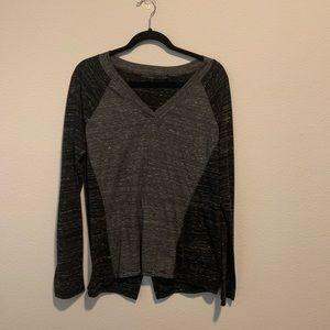 Prana long Sleeve Shirt size Large Black H5